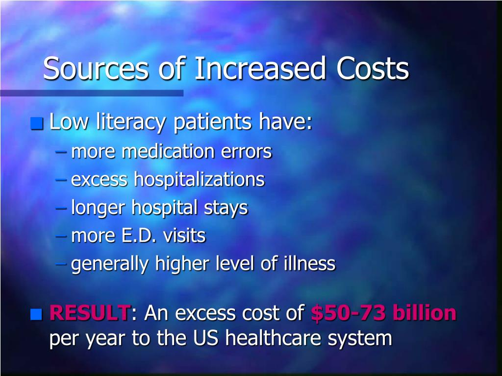 Sources of Increased Costs