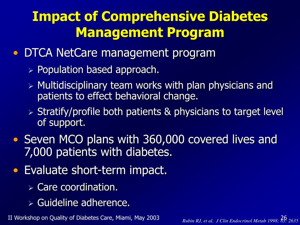 Impact of Comprehensive Diabetes Management Program