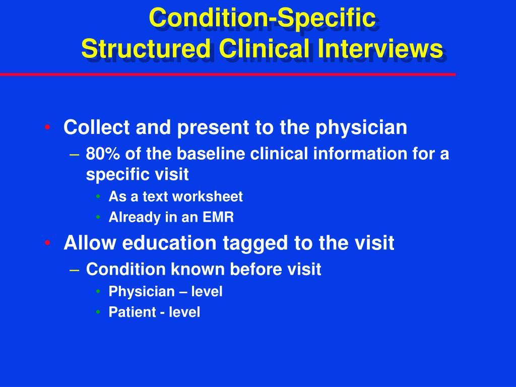 Condition-Specific