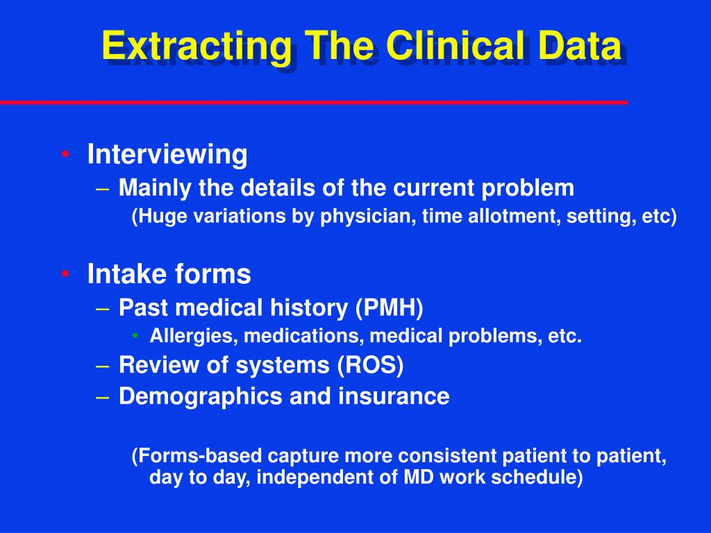 Extracting The Clinical Data
