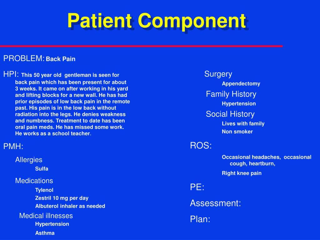 Patient Component