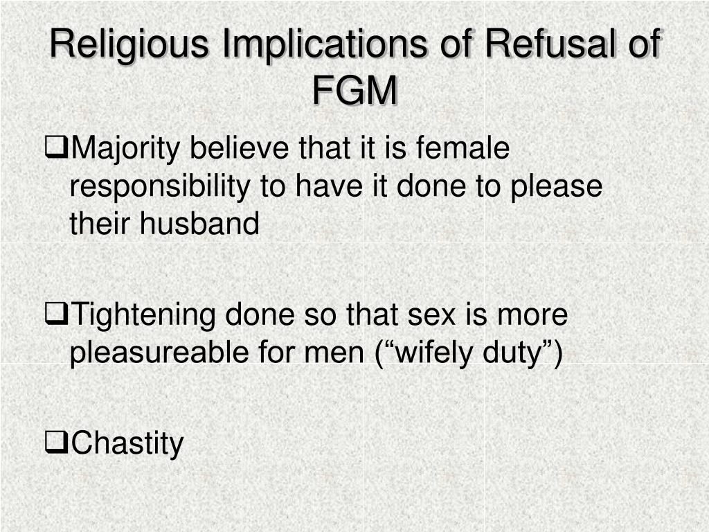 Religious Implications of Refusal of FGM