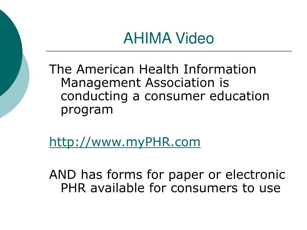 AHIMA Video