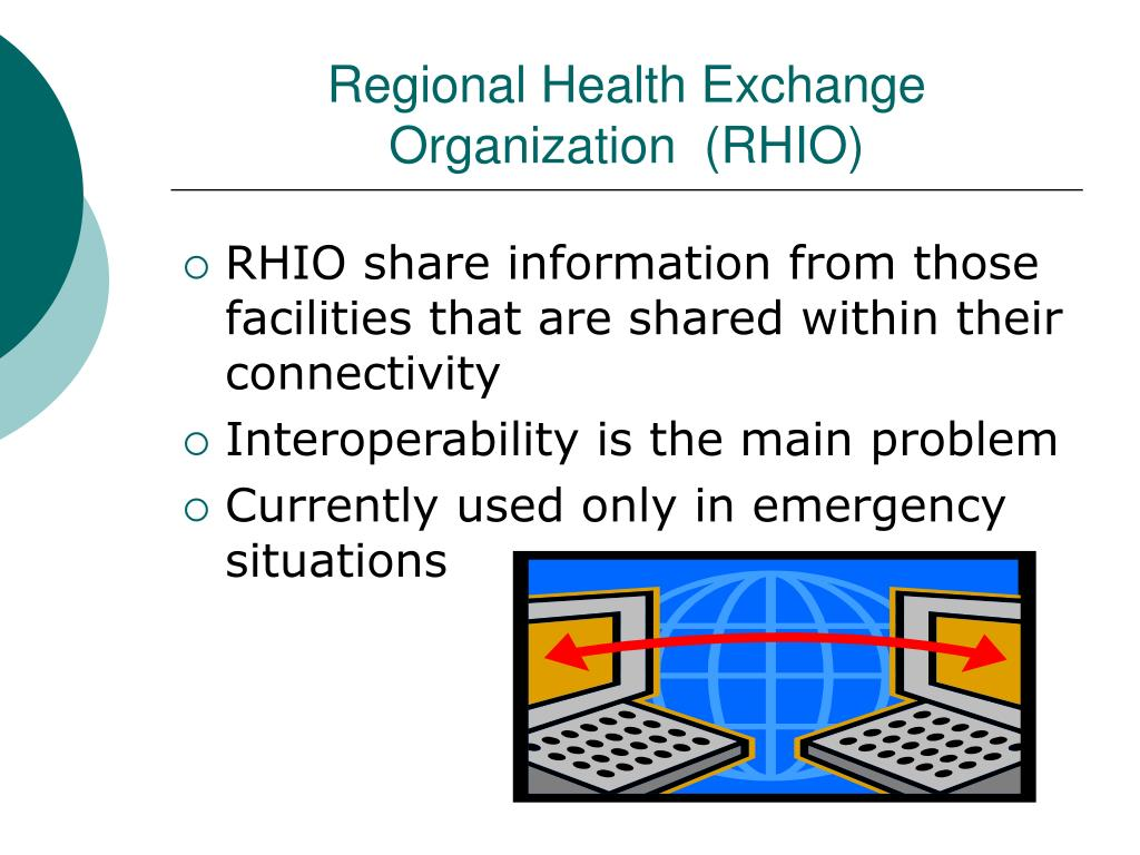 Regional Health Exchange Organization  (RHIO)