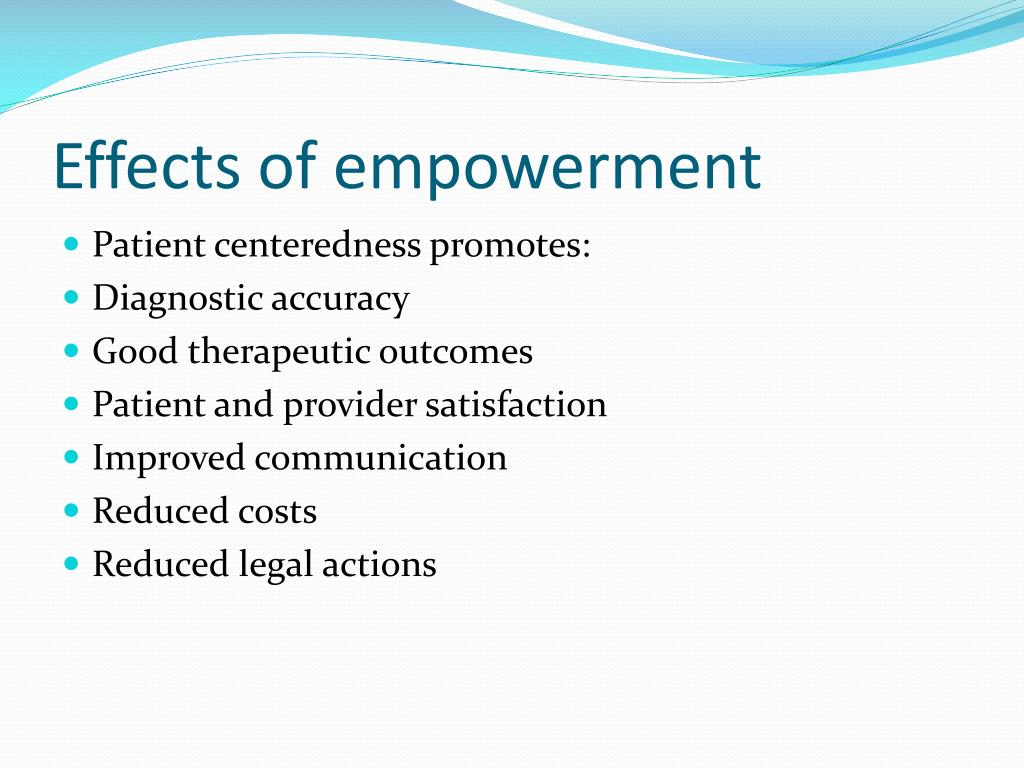 Effects of empowerment