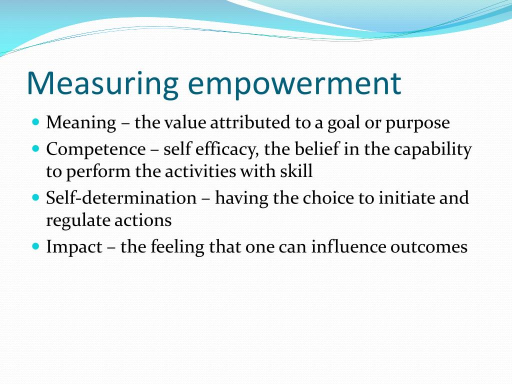 Measuring empowerment