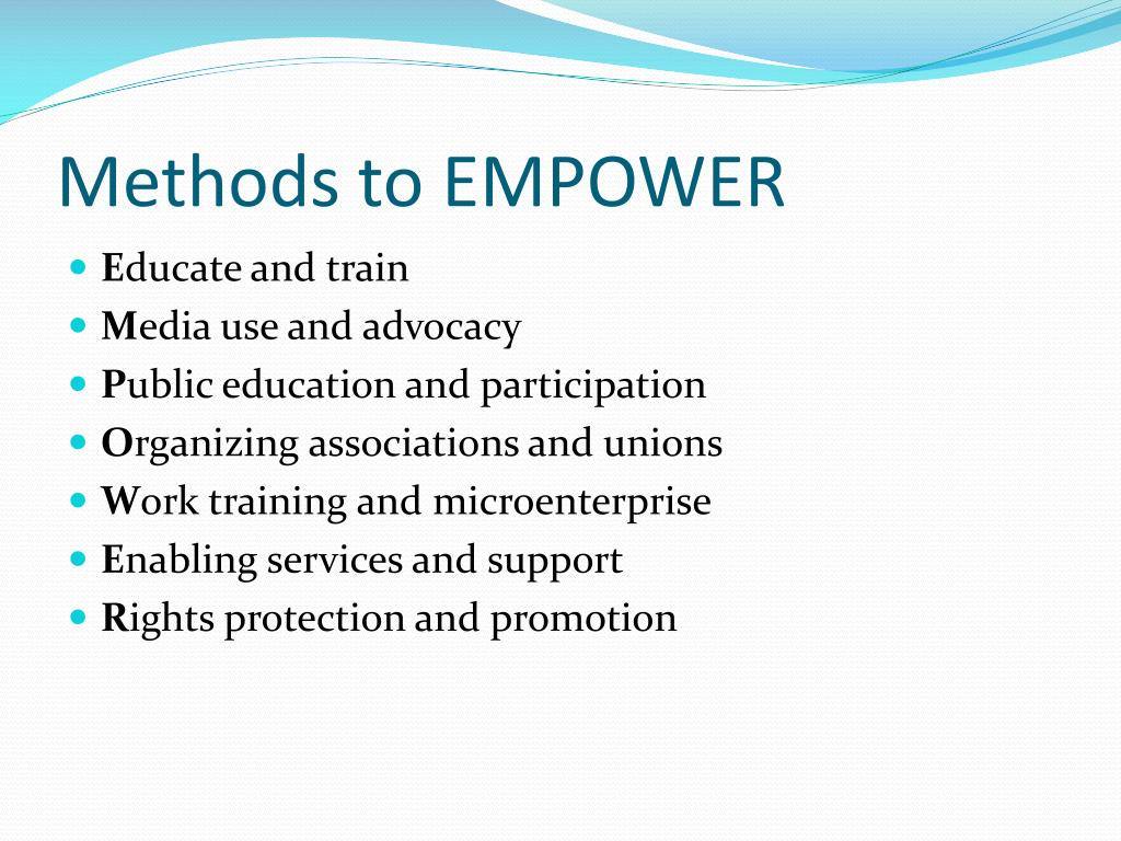Methods to EMPOWER