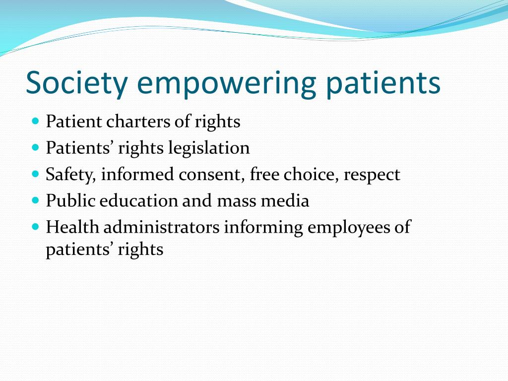 Society empowering patients