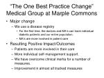 the one best practice change medical group at marple commons