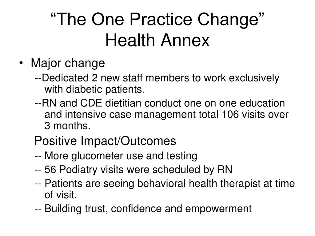 """""""The One Practice Change"""""""