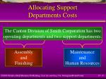 allocating support departments costs8