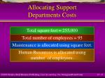 allocating support departments costs9