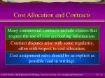 cost allocation and contracts