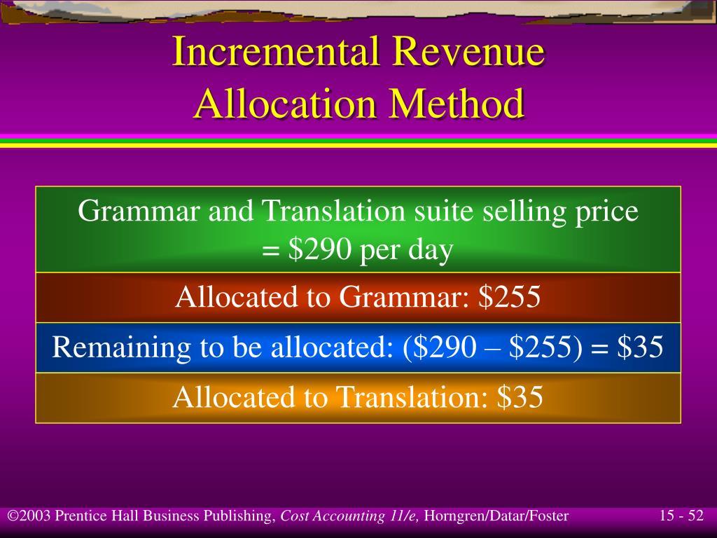 Incremental Revenue