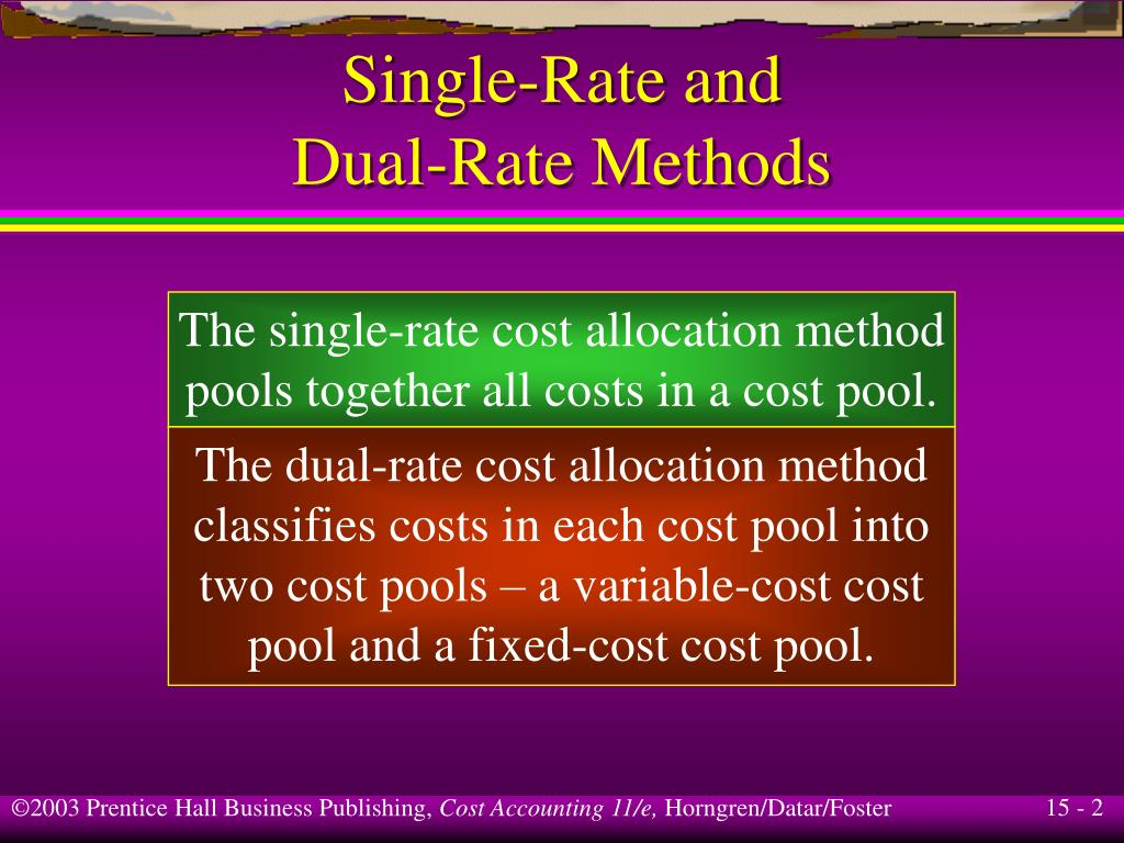 Single-Rate and
