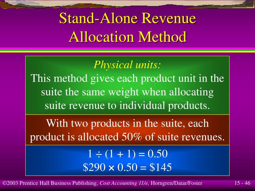 Stand-Alone Revenue