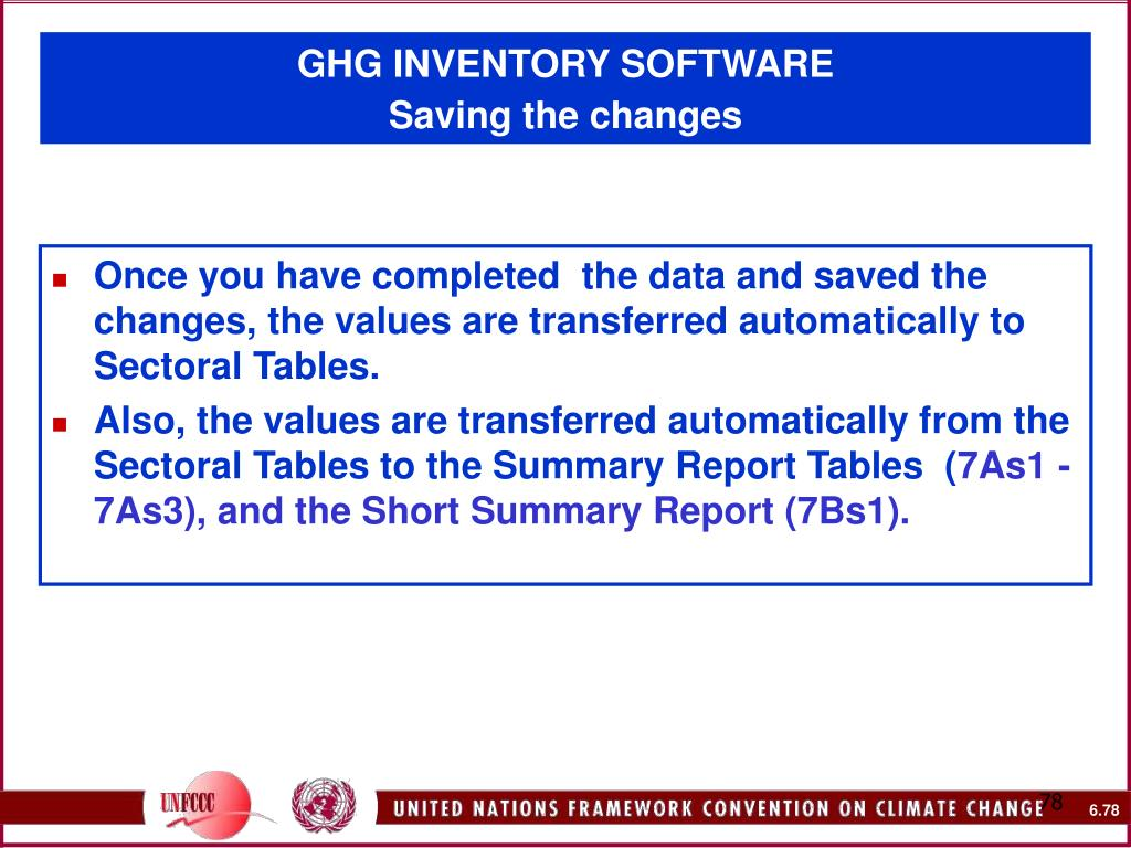 GHG INVENTORY SOFTWARE