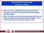 ghg inventory software saving the changes78