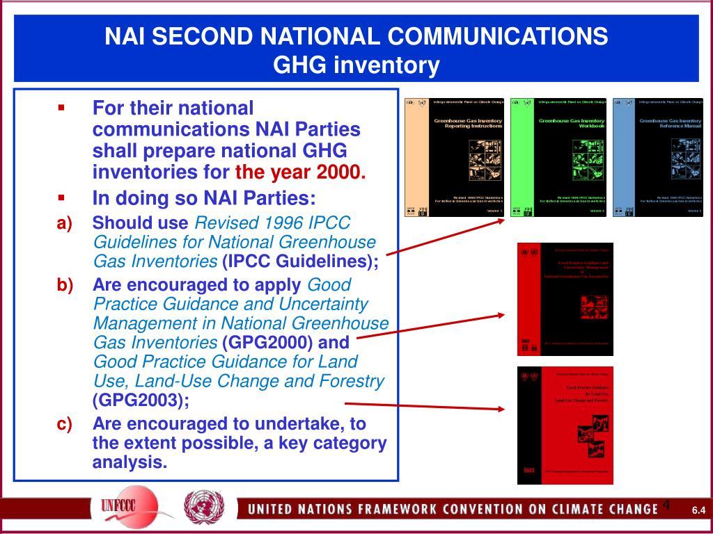 NAI SECOND NATIONAL COMMUNICATIONS