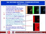 nai second national communications ghg inventory