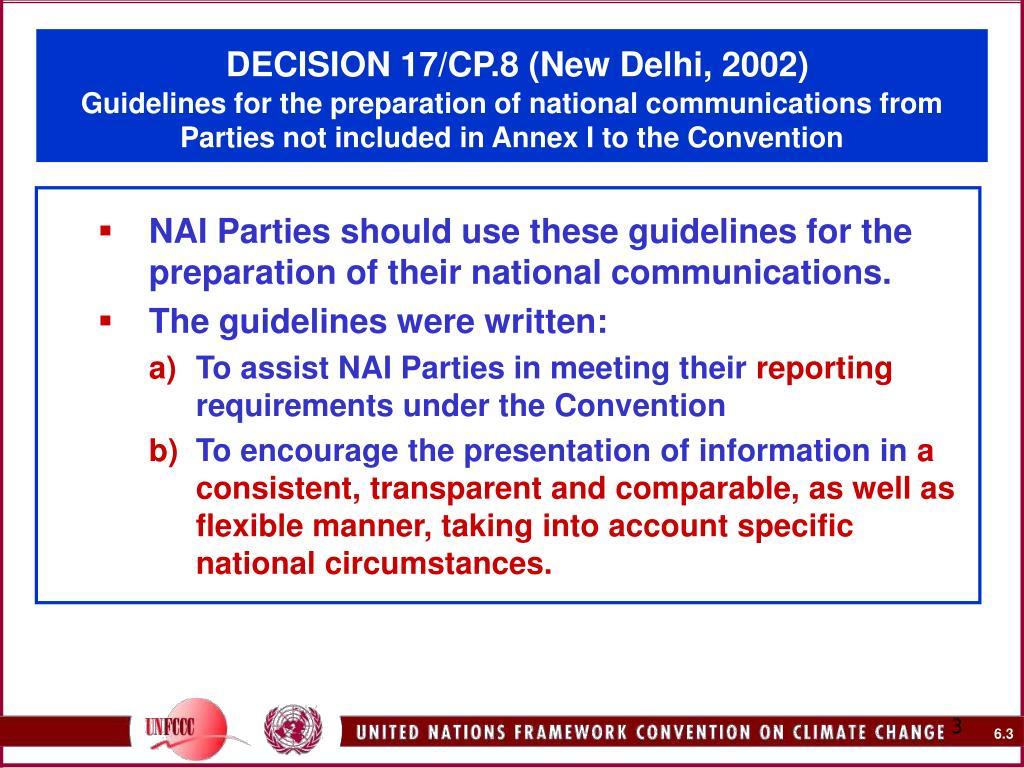 DECISION 17/CP.8 (New Delhi, 2002)