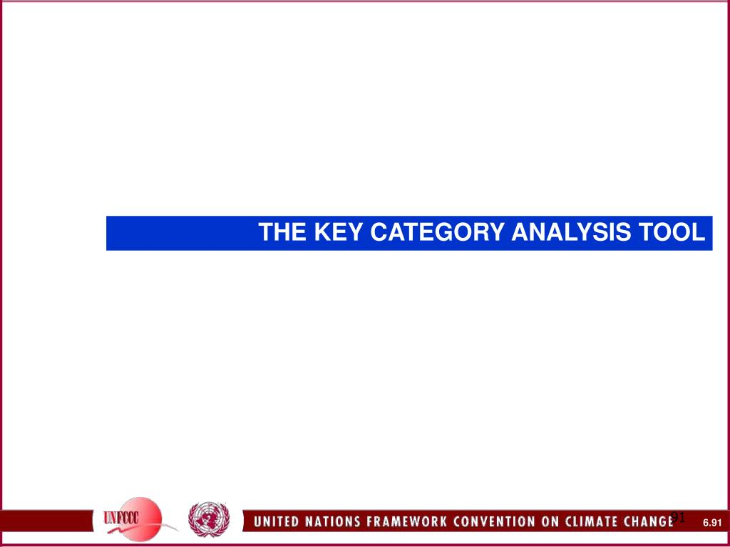 THE KEY CATEGORY ANALYSIS TOOL