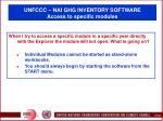 unfccc nai ghg inventory software access to specific modules