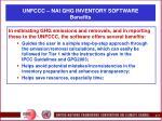unfccc nai ghg inventory software benefits