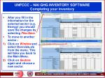 unfccc nai ghg inventory software completing your inventory50