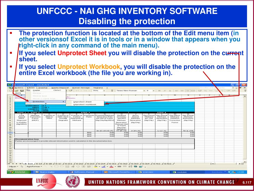 UNFCCC - NAI GHG INVENTORY SOFTWARE