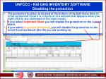 unfccc nai ghg inventory software disabling the protection
