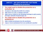 unfccc nai ghg inventory software disabling the protection118