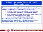 unfccc nai ghg inventory software documentation boxes