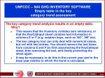 unfccc nai ghg inventory software empty table in the key category trend assessment