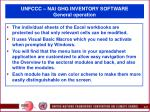 unfccc nai ghg inventory software general operation