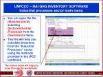 unfccc nai ghg inventory software industrial processes sector main menu