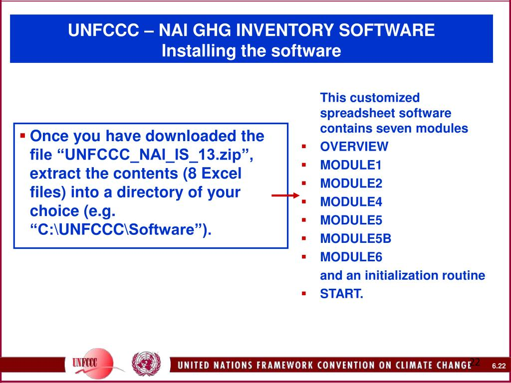 "Once you have downloaded the file ""UNFCCC_NAI_IS_13.zip"