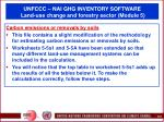unfccc nai ghg inventory software land use change and forestry sector module 565