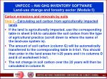 unfccc nai ghg inventory software land use change and forestry sector module 567