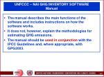 unfccc nai ghg inventory software manual