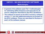 unfccc nai ghg inventory software methodologies