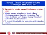 unfccc nai ghg inventory software number signs in some cells