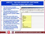 unfccc nai ghg inventory software overview module main screen