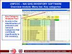 unfccc nai ghg inventory software overview module menu bar key categories
