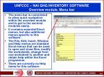 unfccc nai ghg inventory software overview module menu bar