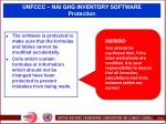 unfccc nai ghg inventory software protection