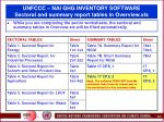 unfccc nai ghg inventory software sectoral and summary report tables in overview xls