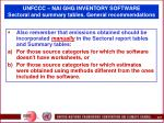 unfccc nai ghg inventory software sectoral and summary tables general recommendations87