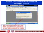 unfccc nai ghg inventory software starting the software28