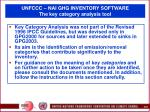 unfccc nai ghg inventory software the key category analysis tool